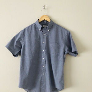 Brooks Brothers Mens Blue Short Slevve Button Down